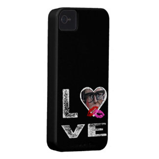LOVE with Kisses - Photo Template iPhone 4 Case