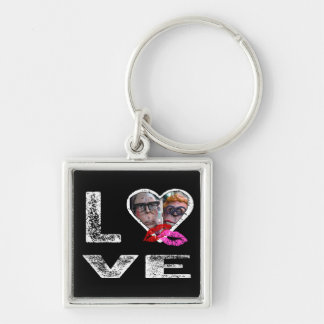 LOVE with Kisses - Photo Template Keychain