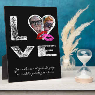 LOVE with Kisses - Photo Template Plaque