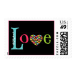 LOVE with lots of Heart in Bright Colors Stamp