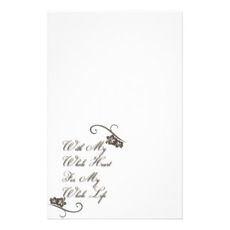Love With My Whole Heart My Whole Life Rustic Stationery
