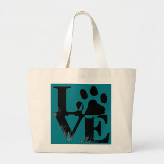 LOVE With Paw Large Tote Bag