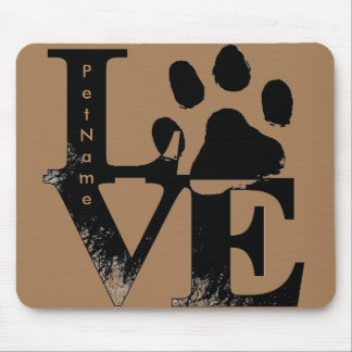 LOVE With Paw Mouse Pad