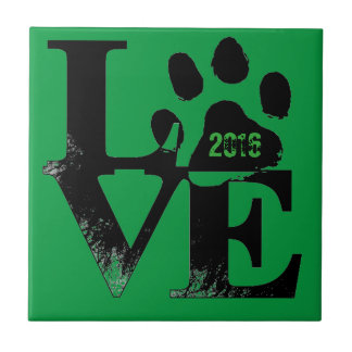 LOVE With Paw Tile