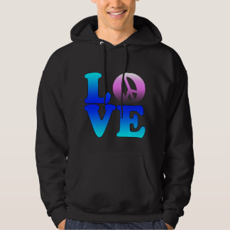 Love with Peace Sign Hoodie