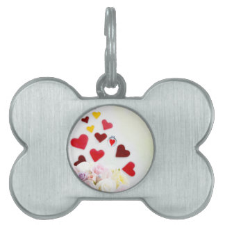 Love with Rose Pet Tag