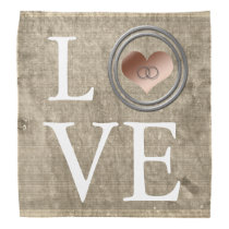 Love-With This Ring by Shirley Taylor Bandana