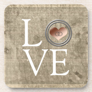 Love-With This Ring by Shirley Taylor Beverage Coaster