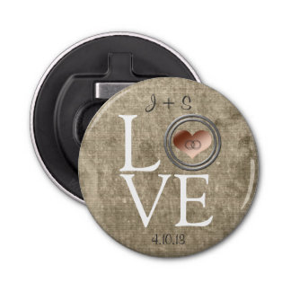 Love-With This Ring by Shirley Taylor Bottle Opener