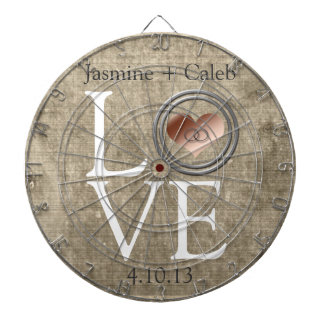 Love-With This Ring by Shirley Taylor Dartboard With Darts