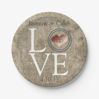Love-With This Ring by Shirley Taylor Paper Plate