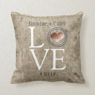 Love-With This Ring Throw Pillow