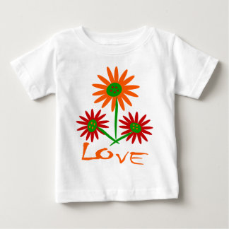 Love With Three Cute, Colorful Flowers With Stems Infant T-shirt