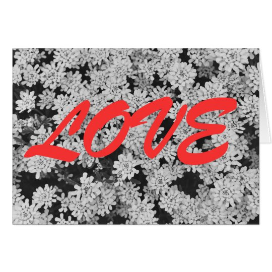 LOVE with White Flowers Card