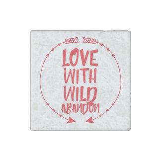 Love with wild abandon marble magnet