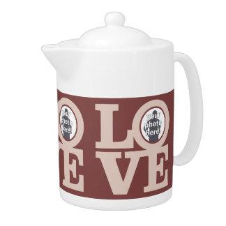LOVE with YOUR 3 PHOTOS custom teapot