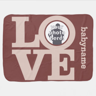 LOVE with YOUR PHOTO custom baby blanket