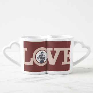 LOVE with YOUR PHOTO custom couple's mug set