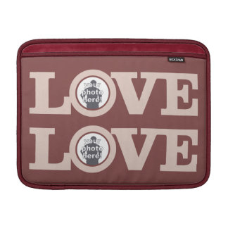 LOVE with YOUR PHOTO custom device sleeves MacBook Sleeve