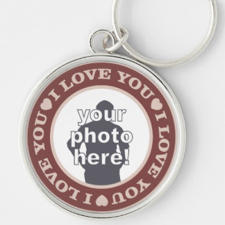 LOVE with YOUR PHOTO custom key chain