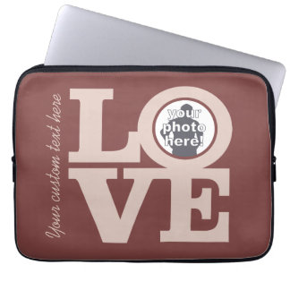 LOVE with YOUR PHOTO custom laptop sleeves