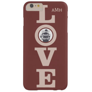 LOVE with YOUR PHOTO custom monogram cases Barely There iPhone 6 Plus Case
