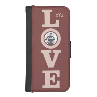 LOVE with YOUR PHOTO custom monogram cases iPhone 5 Wallets