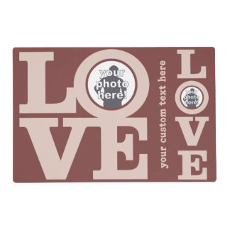 LOVE with YOUR PHOTO custom placemats