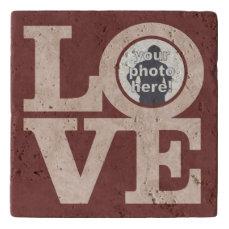 LOVE with YOUR PHOTO custom stone trivet