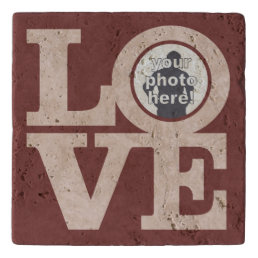 LOVE with YOUR PHOTO custom stone trivet