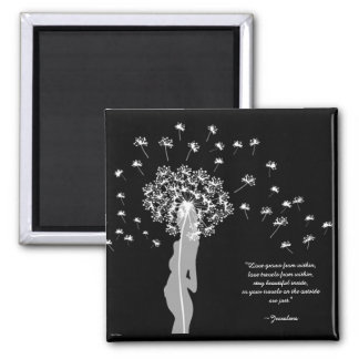Love Within (White) 2 Inch Square Magnet