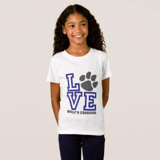 LOVE Wolf's Crossing Girls T-Shirt