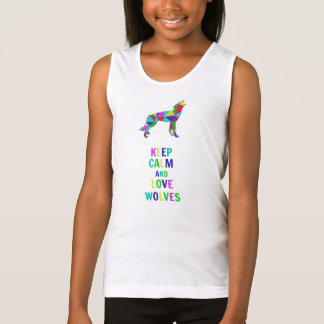 Love wolves tank top