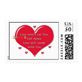 Love Won't Let You Fall Alone Postage Stamp
