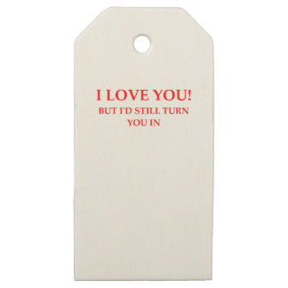 LOVE WOODEN GIFT TAGS