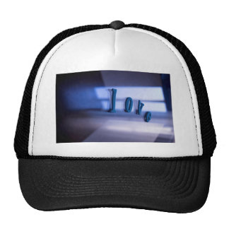 Love Word abstract photograph romantic the Valenti Trucker Hat