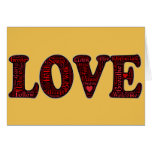 LOVE word and emoji art creation with deep meaning Greeting Card