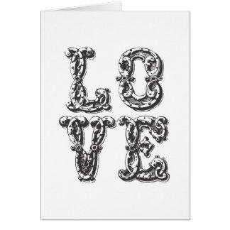 LOVE Word Art Card
