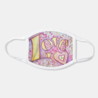 Love Word Art Inspirational Custom Face Mask