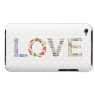 Love word art polka dot ipod case