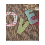 Love Word at Woven Rattan Memo Note Pads