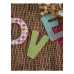 Love Word at Woven Rattan Personalized Letterhead