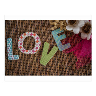 Love Word at Woven Rattan Postcards