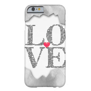 love word / barely there iPhone 6 case