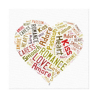 Love Word Cloud Canvas Print