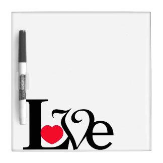Love Word Heart Dry Erase Board