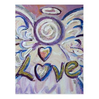 Love Word Inspirational Angel Postcard