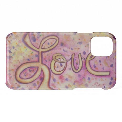 Love Word Inspirational Art Custom iPhone Case