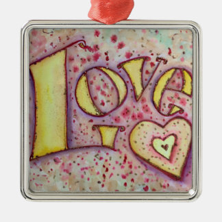 Love Word Inspirational Art Painting Ornament