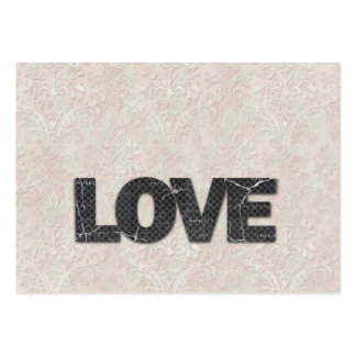 Love Word on soft pink lace background Business Card Template